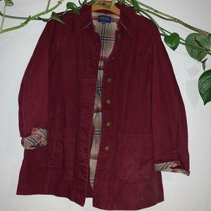 Pendleton Women's Burgandy Pea Coat
